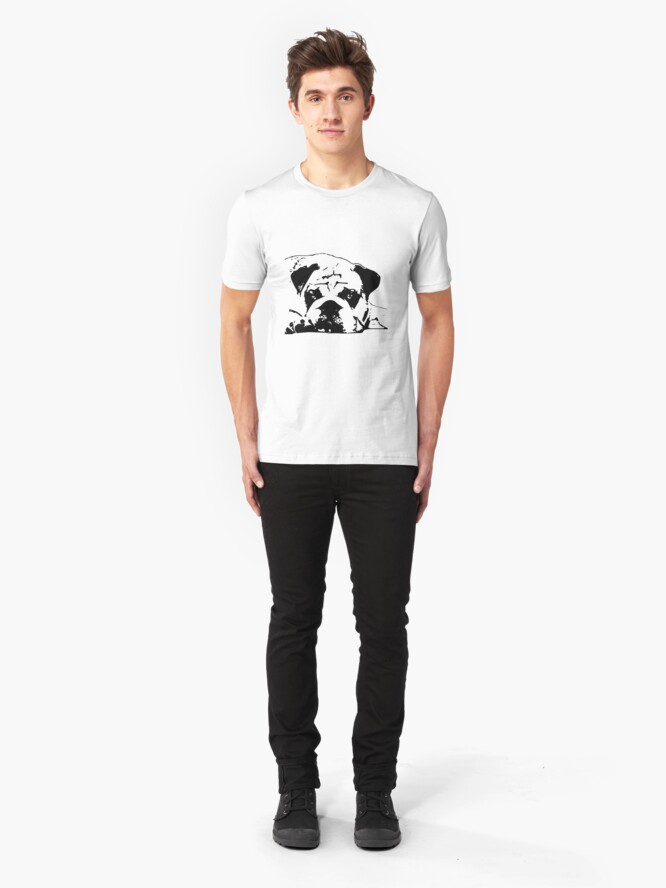 Alternate view of sad dog Slim Fit T-Shirt