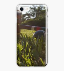Croquet ball and mallet iPhone Case/Skin