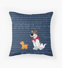 Why Should I worry?/Streets of Gold Throw Pillow