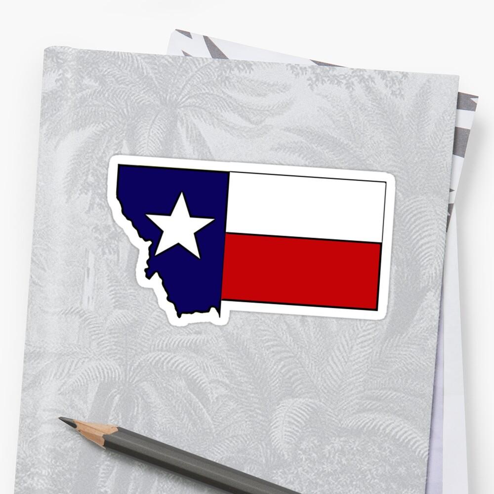 Montana outline Texas flag by artisticattitud
