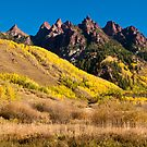 Hills Of Gold - Spikes of Granite by Gregory J Summers