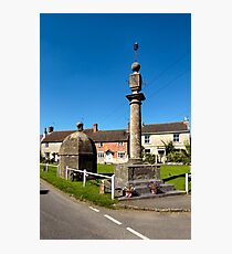 The Blind House and Market Cross, Steeple Ashton, Wiltshire, UK Photographic Print