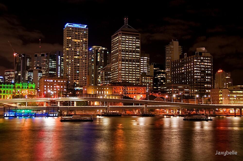Brisbane City Night Lights by Jaxybelle