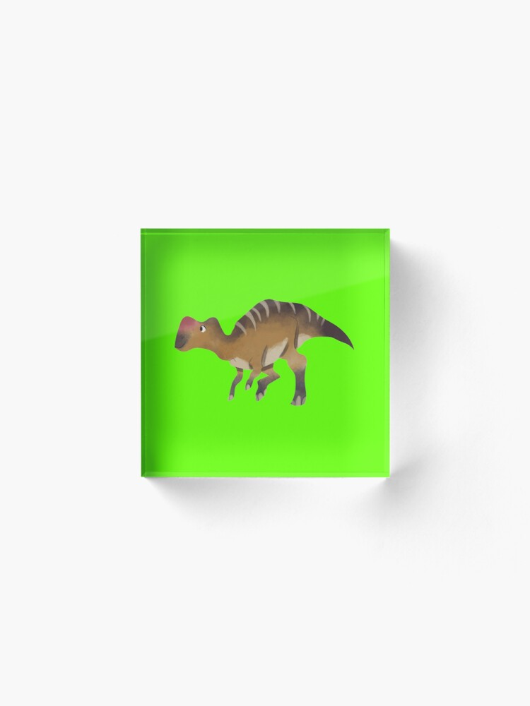 Alternate view of Watercolor dinosaur Acrylic Block