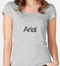 Arialvetica (black text) Women's Fitted Scoop T-Shirt