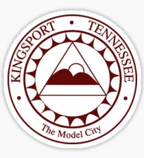 Kingsport City Seal Sticker Sticker