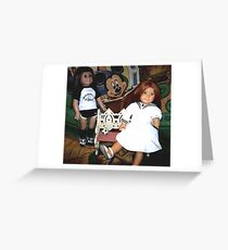 Partners In Crime, My American Girl Dolls Greeting Card