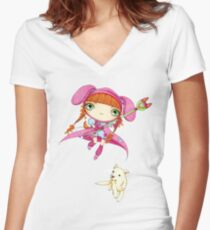 Puppy Guardian Penelope Women's Fitted V-Neck T-Shirt