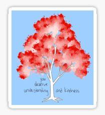 """Understanding and Kindness"" Tree Sticker"