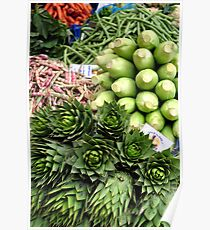 Mixed vegetables. Poster