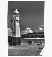 Smeatons Pier St Ives- B&W Poster