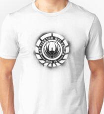 Battlestar Galactica Grunge - Blue line T-Shirt