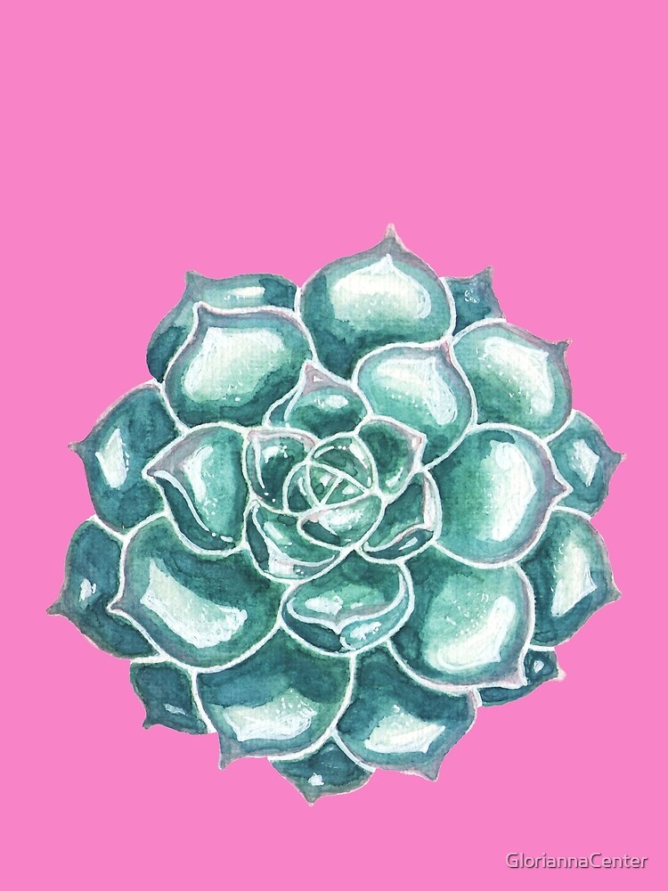 Watercolor succulents by GloriannaCenter
