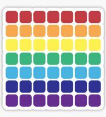 Rainbow Square - Light Background Sticker