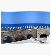 Fortification: Venetian castle (Koules), in Crete, Greece. Poster