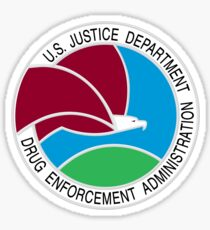 US DEA Drug Enforcement Administration Seal Sticker Sticker
