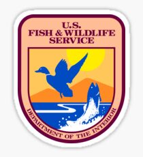 US Fish and Wildlife Service Seal Sticker Sticker