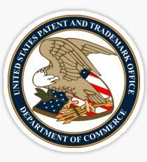 US Patent Trademark Office Seal Sticker Sticker