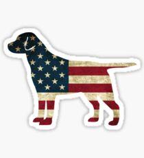 Amerikanischer Hund Sticker