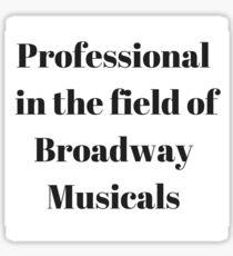 Broadway Musicals Sticker
