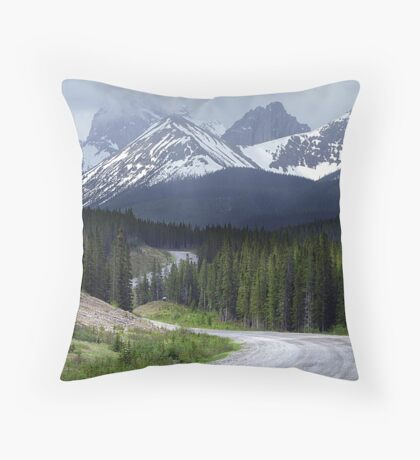 On Spray Lake Trail Throw Pillow