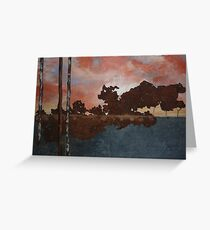 Sunset over Hawkins Hill , Hillend. Greeting Card