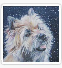 Cairn Terrier Fine Art Painting Sticker