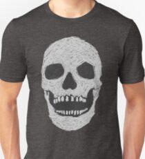 Scribble Skull - Invert T-Shirt
