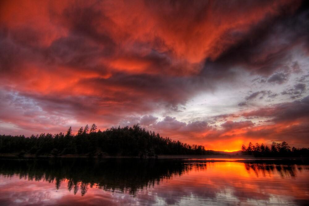 Sunset Looms by Bob Larson