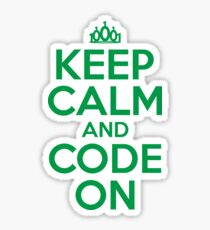 Keep Calm and Code On Sticker