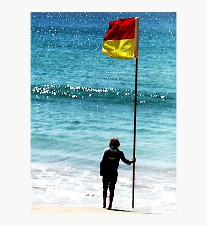 Beach Flag Photographic Print