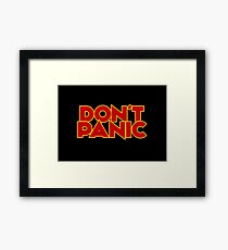 Dont Panic - The Hitchhiker's Guide to the Galaxy Framed Print