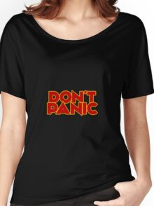 Dont Panic - The Hitchhiker's Guide to the Galaxy Women's Relaxed Fit T-Shirt
