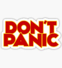 Dont Panic - The Hitchhiker's Guide to the Galaxy Sticker