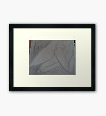 erotic nude pussy girl Framed Print