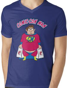 Comic-Con Man Mens V-Neck T-Shirt