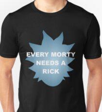 Camiseta ajustada Cada morty necesita un rick