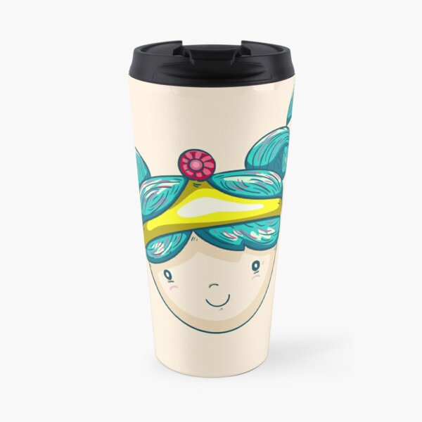 pigtails princess Travel Mug