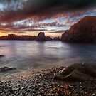Porth Oer Cove by Beverly Cash
