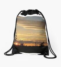 Beautiful October Sunset 2015 Drawstring Bag