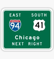 Chicago, IL Road Sign Sticker