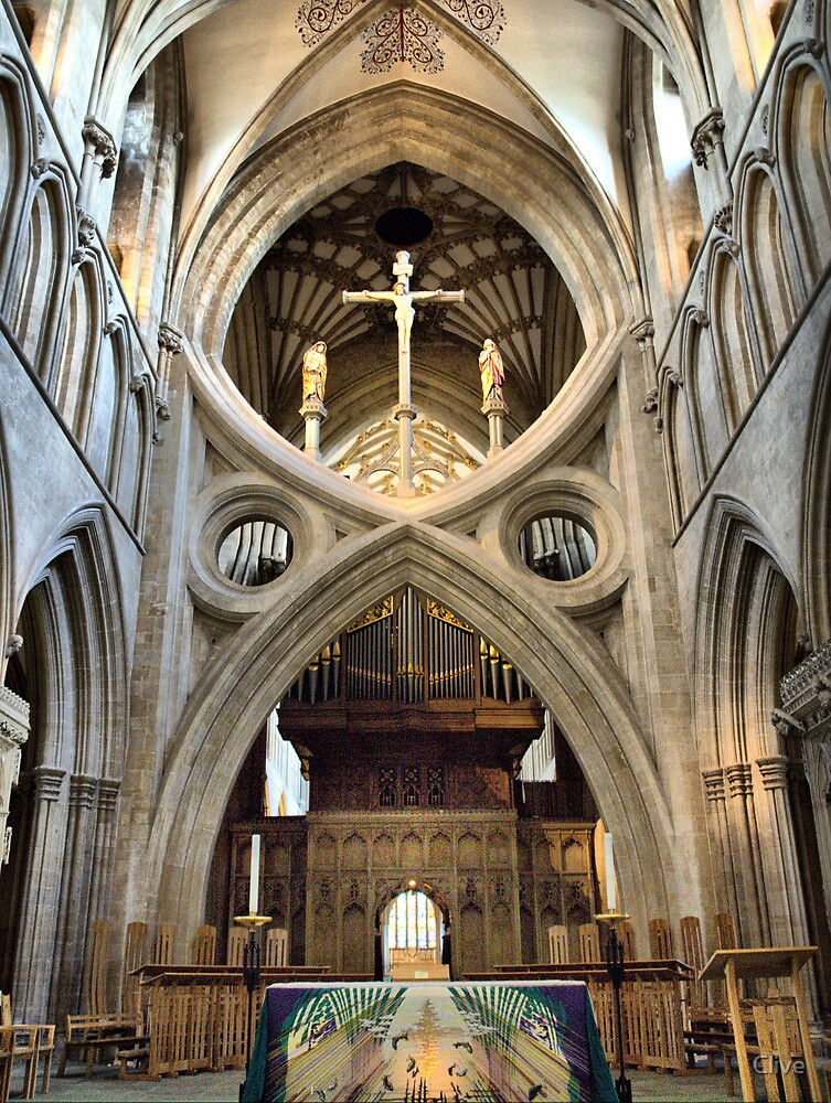 Quot Wells Cathedral The Scissor Arch Quot By Clive Redbubble