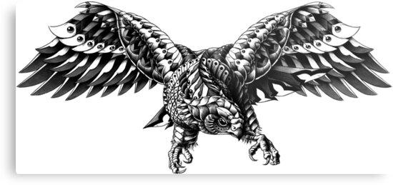 Ornate Falcon by BioWorkZ