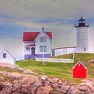 Cape Neddick Lighthouse or Nubble Light by David Owens