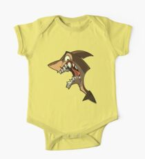 Angry brown shark with shading One Piece - Short Sleeve