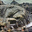 York Beach Rock Formation by David Owens