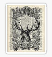 Christmas Stag,xmas gift,reindeer decor Sticker