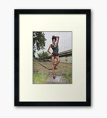 Bad girl Framed Print