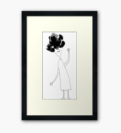 Julia knew her hair was bad yet she refused to not be glad Framed Print