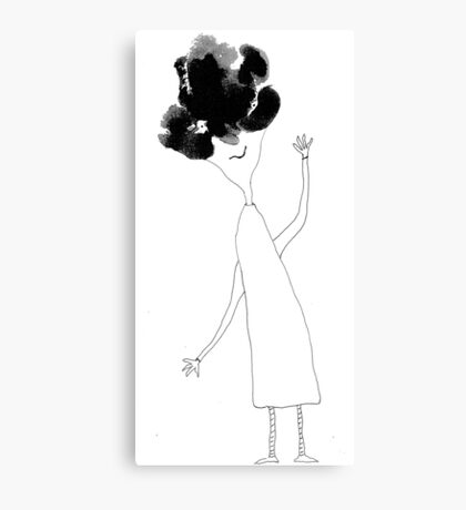 Julia knew her hair was bad yet she refused to not be glad Canvas Print